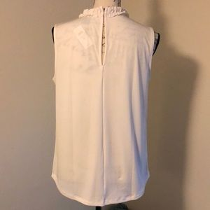 Ann Taylor Factory Tops - NEW Ann Taylor Factory Ivory Ruffle Collar Blouse
